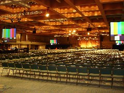 Production by Resource Group AV inside Orange County Convention Center